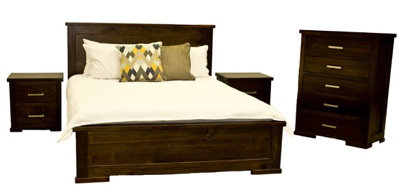 Contemporary bed and bedroom furniture to rent
