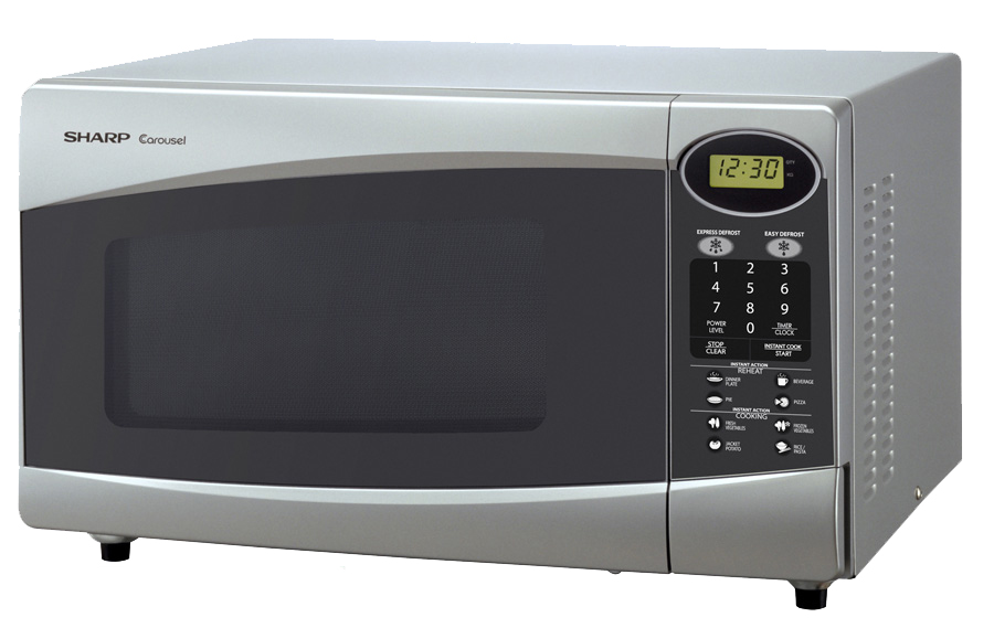 Rent or hire Microwave unit - silver